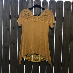 Mur Mur Yellow shirt Anthro BoHo Lagenlook BoHo